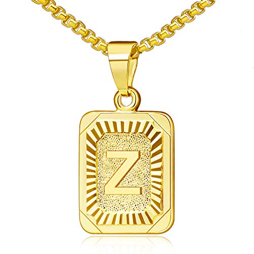 Gold Initial Necklaces for Women Gold Letter Necklaces 26 Capital A-Z, Letter Pendant Necklaces for Women,Gold Number Necklace for Men Boys Football/Soccer