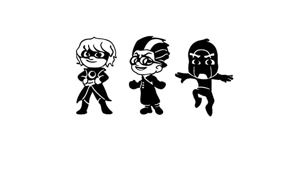 Amazon.com: Maple Enterprise PJ Masks Villains Vinyl Sticker Set. Luna Girl, Romeo and Night Ninja decals for your kids room, windows, walls, doors, ...