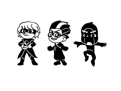 Maple Enterprise PJ Masks Villains Vinyl Sticker Set. Luna Girl, Romeo and Night Ninja