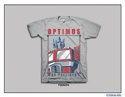 Transformers Optimus For President Men White T-Shirt