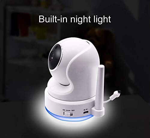 """41OMkv5eoLL CasaCam BM200 Video Baby Monitor with 5"""" Touchscreen and HD Pan & Tilt Camera, Two Way Audio, Lullabies, Nightlight, Automatic Night Vision and Temperature Monitoring Capability    Product Description"""