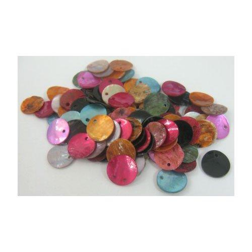 Paquet 20 x Mixte Nacre 13mm Connecteurs Liens - Rond - Charming Beads Y06885