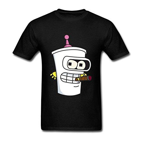 Liyo Mens Aqua Teen Hunger Force Master Shake T-shirt Black L