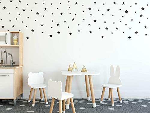 Wall Decals Black Stars for Kids Room +
