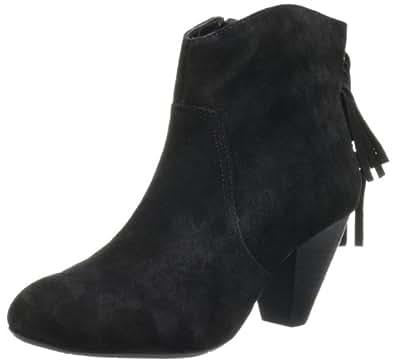 Jessica Simpson Footwear Women JS-Octave2 Bootie,Black Split Suede,5 M US