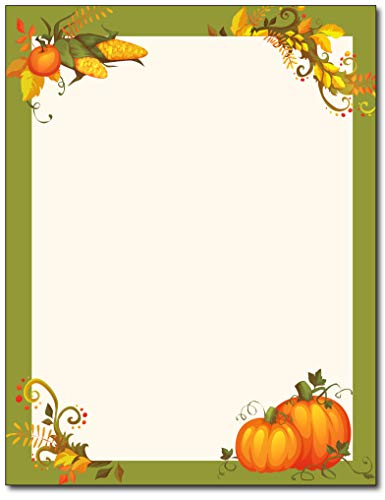 Thanksgiving Harvest Border Stationery - 80 Sheets ()