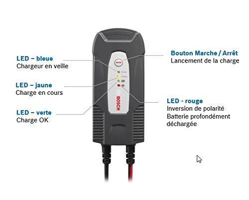 Cargador automático de batería Bosch C1 para 12 V / 3,5 A: Amazon ...