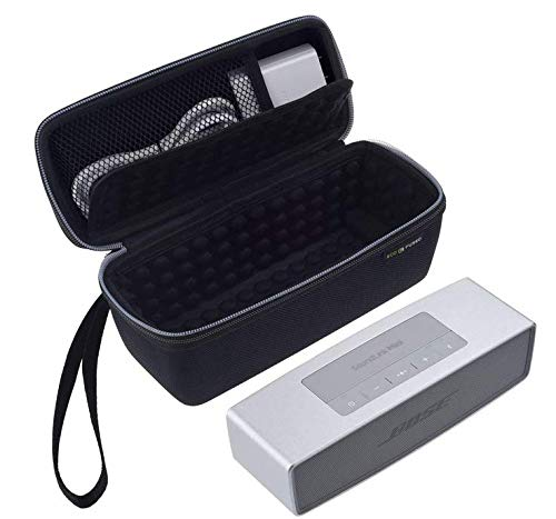 Eco-Fused Replacement Carry Case Compatible with Bose Soundlink Mini 1 and 2 Designed to Protect and Transport - Bubble Padded Interior for Speaker and Dock - Mesh Pocket to Store Power Adapter