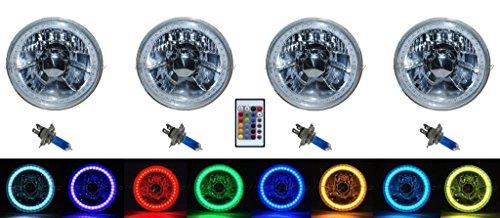 5 3/4 White Led Halo Halogen Light Bulb Headlight in US - 5