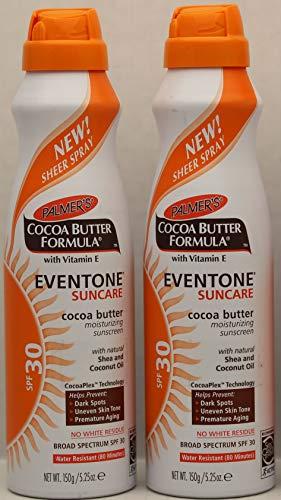 Palmer s Cocoa Butter Formula With Vitamin E, Eventone Suncare Moisturizing Sunscreen, SPF 30, 5.25 Oz Pack of 2 by Palmer s