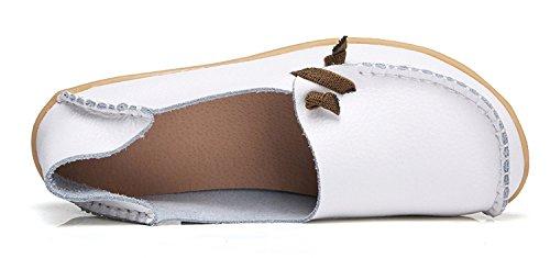 Comfort Per Le Donne Di Tiosebon, Mocassini In Pelle Casual, Scarpe Da Mocassino, Scarpe Xxh911-5 Bianche