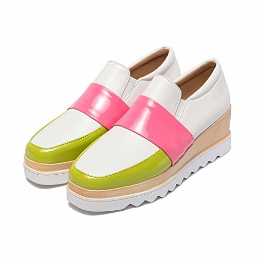 Waterproof Table Shallow Mouth with the Fight Color Fashion Women's Boots Shoes Shoes , white , EUR34.5