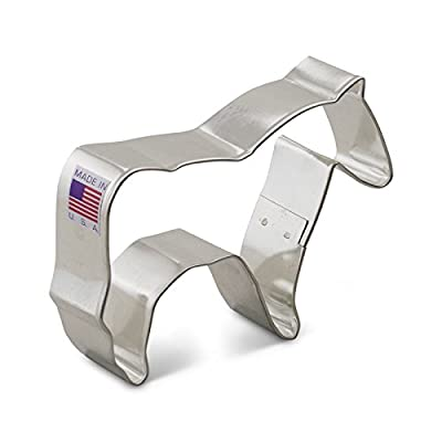 Ann Clark Horse Cookie Cutter - 3.75 Inches - Tin Plated Steel