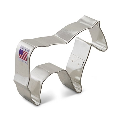 Ann Clark Horse Cookie Cutter - 3.75 Inches - Tin Plated Steel ()