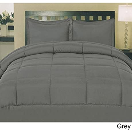 Luxury 600 Thread Counts 7pc Bed In A Bag With 500GSM Comforter Hospital Size Elephant Grey Solid 100 Egyptian Cotton By PARADISEHOUSE
