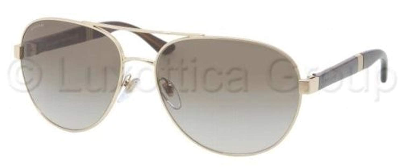 dc83d08ce5 Bvlgari 5025 278 8E Pale Gold 5025 Aviator Sunglasses Lens Category 2 at  Amazon Men s Clothing store
