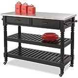 Home Styles 5218-951 Savanna Kitchen Cart, Black Finish