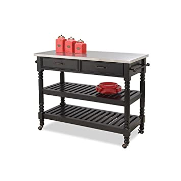 Amazon.Com - Home Styles 5218-951 Savanna Kitchen Cart, Black