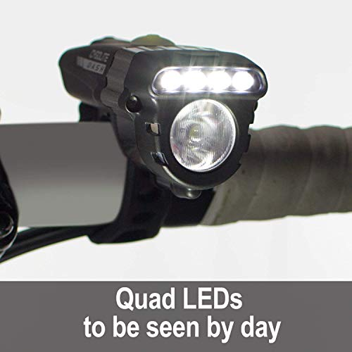 Cygolite Dash Pro 600 Lumen Headlight Hotrod 50 Lumen Tail Light USB Rechargeable Bicycle Light Combo Set
