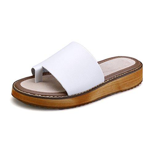 211e370e801cc chic Smilun Lady s Sandal Flip Flop Thong Split Toe Strap Wedge Sandals