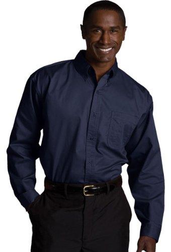 Long Sleeve Teflon Twill Shirt - Edwards Men's Cottonplus Long Sleeve Twill Shirt, NAVY, 2XLarge