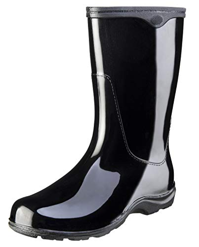 Sloggers 5000BK10 Women's Waterproof Rain Boots, Black - Siz