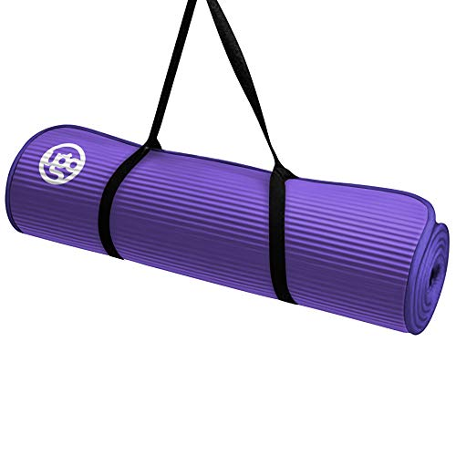 Cheap Ugo 10MM NBR Yoga Fitness Exercise MAT with Piping – Purple