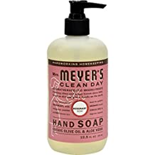 Mrs Meyers Hand Soap Rosemary 12.5 Ounce Pump (370ml) (6 Pack)
