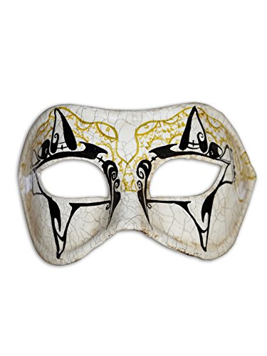 Magic of Venezia Venetian Eye Mask Colombina Victoria For Men and Women (Venezia 5 Piece)