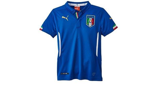 PUMA T-Shirt Figc Italia Leisure Tee - Camiseta de equipación de fútbol para niño: Amazon.es: Deportes y aire libre