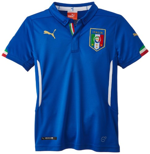 PUMA Kinder Trikot FIGC Italia Kids Home Shirt Replica, Team Power Blue, 140, 744294 01