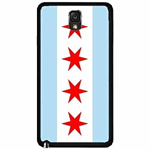 Chicago Flag- Plastic Phone Case Back Cover Samsung Galaxy Note III 3 N9002