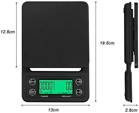 PRWJH Bilance pesapersone digitali, Bilancia pesapersone da Cucina Portatile con Timer elettronico da 5 kg / 0,1 g