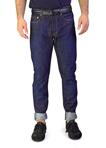 Dior Homme Men's Bleu Marine Slim Fit Denim Jeans Pants Dark Blue Homme Denim Pants