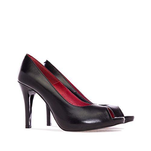 Spain zapato Y Andres Negro valeria Made In 45 tallas Grandes32 De Machado Piel Pequeñas 42 35 Mujer 00Ax1