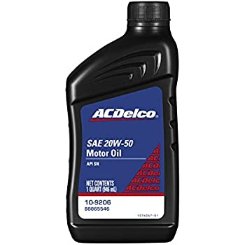 ACDelco 10-9206 Professional 20W-50 Conventional Motor Oil - 1 qt