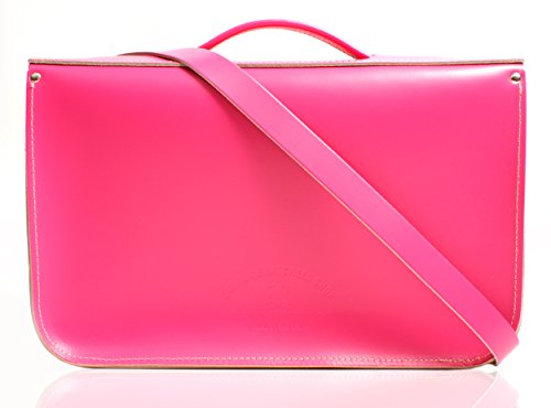 Oxbridge Satchel's - Bolso estilo cartera para mujer Hot Pink