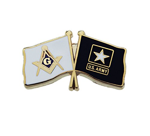 Masonic USA United States U.S. Army Flag Freemason Lapel Pin