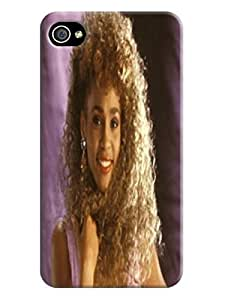 fashionable cool 2014 pretty Whitney Houston designed Hard PC Case For Iphone 4/4S Cover