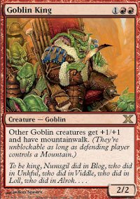 Magic: the Gathering - Goblin King (207/383) - Tenth Edition (The Goblin King Magic Gathering)