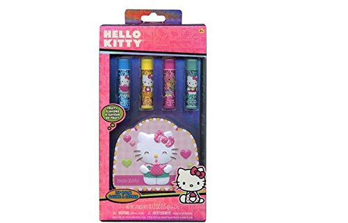 Hello Kitty 4pk Lip Balm with Shaped Tin