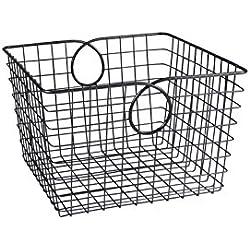 Spectrum Diversified Teardrop Storage Basket, Large, Industrial Gray