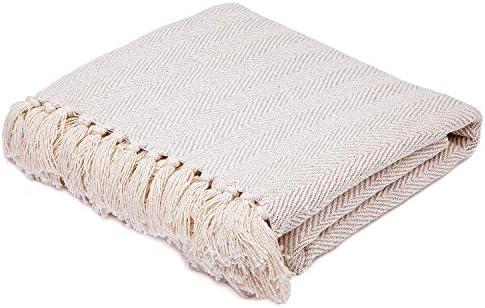 AMERICANFLAT Cotton Blanket Throw 50x60