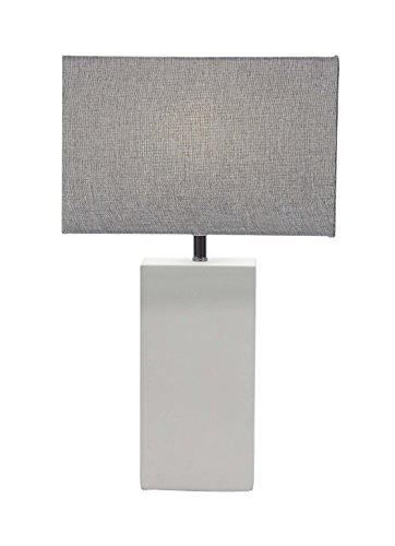 Deco 79 39987 39987 Table Lamp,  White/Gray