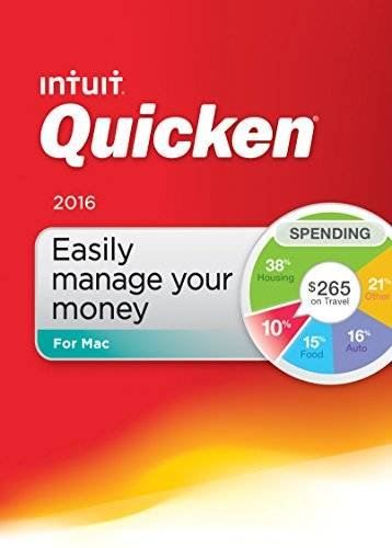 Superior Quality Quicken For Mac 2016 Personal Finance & Budgeting Software