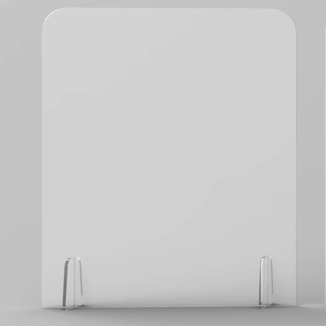 INMAKER - Protector de estornudos para mostrador, 50 cm de ancho x 24 cm de alto, barrera de plexiglás, escudo acrílico para escritorio