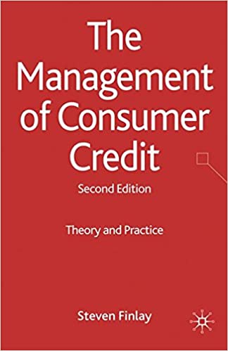 Book The Management of Consumer Credit: Theory and Practice