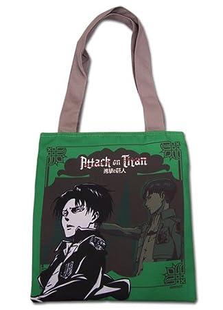Tote Bag - Ataque en Titan - nueva Levi verde Anime con licencia ge82276: Amazon.es: Juguetes y juegos
