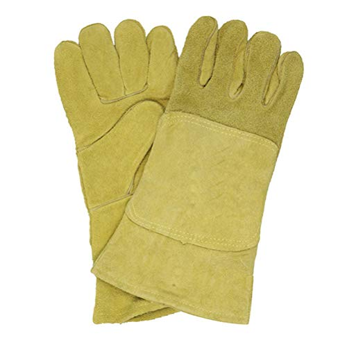 Protective Welding Gloves, Long Insulation Industrial Protective Gloves -