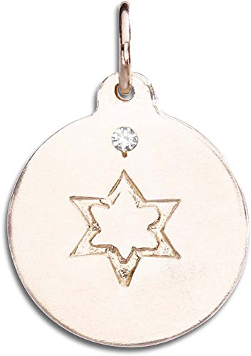 Helen Ficalora Star of David Disk Charm With Diamond Rose Gold ()